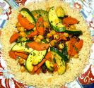 Seven Vegetable Casserole With Couscous Crust